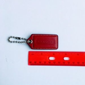 Large Red Coach hangtag/Keychain holder